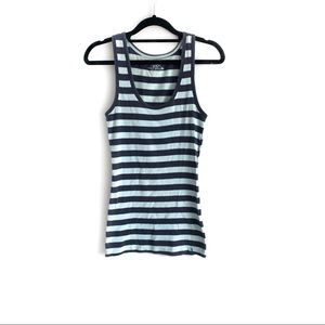 SO by Kohl's Blue and Navy Striped Tank Top